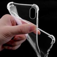 Soft TPU Clear Case Transparent Stoßfest Airbag Stoßfänger Hüllen Galaxie für iPhone 12 11 Pro XR XS Max Samsung Huawei P20 Lite
