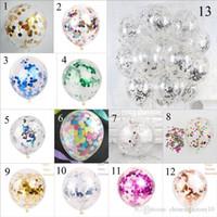 Multicolor Lechate lentejuelas globos fiesta de cumpleaños decoraciones de boda suministros rellenos clara novedad niños juguetes hermosa nueva moda