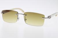 도매 남성 무테 새로운 화이트 정품 천연 혼 선글라스 핫 8,200,758 무테 선글라스 핫 남여 디자이너 태양이 여자가 안경 안경