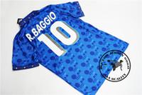 Envío gratis 1994 Italia Baggio Maldini Evani Conte Signori Baresi Tassotti Donadoni Retro Camisetas Vieja Jersey de fútbol