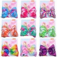 11 Colori Jojo archi con accessori per capelli clip per le ragazze JOJO Siwa archi dei capelli neonate 5 pollici di capelli arcobaleno Bow SS123