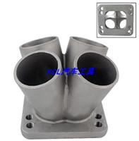 Universal Auto Parts modifié en acier inoxydable Sablage 4 trous Bride de base Convient pour T3 / T4 Turbine Tubor