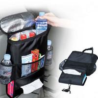 1pc siège arrière de voiture Organisateur / Multi-Pocket Voyage Sac de rangement / isolé siège arrière de voiture Porte-boissons Cooler