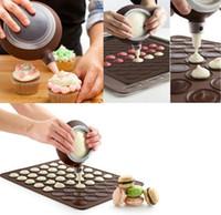 Nuevos moldes para hornear de almohadilla de silicona para macarons redondos para hacer moldes de pastel Dispositivo de cocina Bar de comedor Herramientas para hornear Dispositivo decorativo especial XD20577
