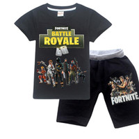 Comodo allentato Pajama Set Battle Royale Pigiami Big Boys Sleepwear Pajamas Set Kid Bambini Sports Suits Top Tees + Pants
