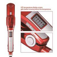 Professional Steam Flat Iron Hair Straightener Fast Ceramic Titanium Plate Temperature Control wet and dry using