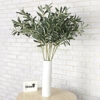محفظة 5pcs ، نباتات اصطناعية زاهية ، نبات ، أوراق خضراء ، 6 فروع ، ديكور المنزل ، نباتات ، إكليل ، الطول الإجمالي 88 سم