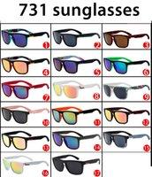 Atacado 731 Moda Sports andando óculos de sol, modelos simples quadrados, moda uma variedade de estilos de óculos de sol QS de alta qualidade