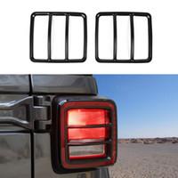 Jeep Wrangler JL 2018+ Otomobil İç Aksesuarlar için Araba Arka Lamba Lamba Siyah Arka lamba lamba Dekorasyon Kapağı (Demir)