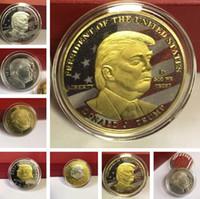 Arts moneta fortunata Trump monete commemorative 2020 Presidente Trump Ferro Monete regalo metallo Presidente di Trump e Mestieri 7010A