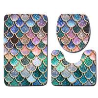 45 * 75cm 화장실 러그 Closestool 매트 카펫 물고기는 다양한 패턴 23ol의 J1으로 장식용 천 Bardian 절묘한 귀여운 판매 잘 저울