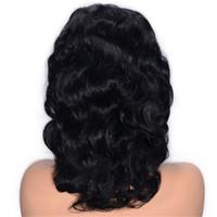 Pelucas delanteras del cordón del pelo humano sin procesar pelo virginal brasileño Color Natural nudos blanqueados ondulado sin cola pelucas de encaje