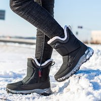 snow 2019 warm winter shoes zipper mid- calf waterproof non- s...
