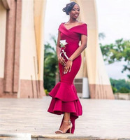 South African Bridesmaid Dresses Capped Off Shoulder Maid of...