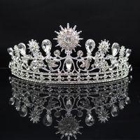 Accesorios de joyería cristalina de la boda Coronas Hairbands barroco tiaras nupcial de la chispa del Rhinestone Crowns princesa pelo para las mujeres