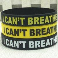 BLACK MATTER Wristband Lettres VIES Imprimer JE RESPIRER Bracelet en silicone Bracelets caoutchouc Bracelets Bracelets Sport Party Decors D7107
