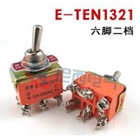 10 ADET E-TEN1321 ON-ON 2 Pozisyon 6 Pins Geçiş Anahtarı 15A 250VAC Güç Rocker Anahtarı