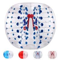 En iyi fiyat 1m 1.2m 1.5m PVC Zorb top, şişme tampon topu, kabarcık futbol, çocuk yetişkin için uygun kabarcık futbol en iyi hediye