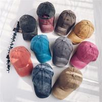 Vintage lavé teint casquette de baseball profil bas réglable unisexe classique plaine sport en plein air été papa chapeau Snapback AAA1999