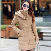 Jacke Winter Fashion Frauen 2020 Female Jacke mit Kapuze verdicken Medium-Long Parkas Plus Size Padded Casaco Feminino Coat