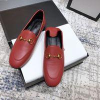 Sapatos Luxuosos Da Marca Mulheres Sapatos Designer De Moda Mulheres Sapatos Mocassins Sapatos Branco Preto Bege Genuíno Couro Feminino Zapatos Calçado Para Andar Tamanho 35-40