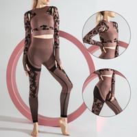 2 قطعة مجموعة اليوغا مجموعات رياضية اقتصاص البرازيلي + طويل بانت اللياقة البدنية الرياضة البدلة للنساء تجريب البطن التحكم الملابس سلس sexykg-251