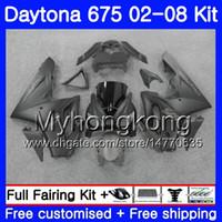 Кузов для триумфа Daytona 675 2002 2003 2004 2005 2006 2007 2008 322HM.44 Daytona 675 Daytona675 02 03 04 05 06 07 08 Обтекатель ALL Flat blk it