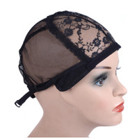 Wig cap for making wigs with adjustable strap on the back we...