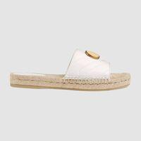 Zapatillas de mujer con puntera abierta de cuero con punta abierta y suela de goma de 10 mm recubierta con cuerda tamaño euro 35-41