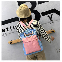 new style Macarons Canvas Backpack Girls Hand bill of lading...