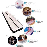 Freies Verschiffen 4m lange aufblasbare Gymnastik-Luftbahn, die Matte stürzt Luft stürzt Fußmatten für Hauptgebrauch, Strand, Park und Wasser