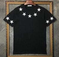 03 Sommermarke Top Herren T-shirt Kurze Ärmel Schwarz Weiß Fünf spitzer Stern T-Shirt Herren Designer T-shirt T-Shirt Rundhalsmode Tshirt