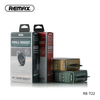 RB-T22 Remax T22 미니 무선 블루투스 이어폰 V4.2 자동차 헤드셋과 함께 자동차 운전 전화 스포츠