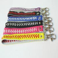 Baseball cuir trousseau accessoires fastpitch porte-clés de couture de base-ball de la mode créative fête de Noël cadeau pour les enfants LXL927Q