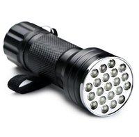 Outdoor Ultra Violet Taschenlampe Schwarzlicht-LED-Taschenlampen-Lampen tragbaren Mini-Aluminium-Legierung wasserdichter Taschenlampen Lager Fahrantrieb Taschenlampen