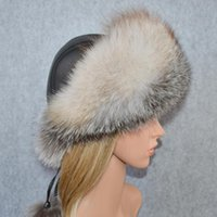 Women Winter Outdoor Real Fox Fur Bomber Hat Natural Raccoon...