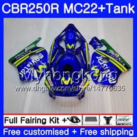 Injeção + Tanque Para HONDA CBR 250RR Movistar Azul CBR250RR 90 91 92 93 94 263HM.6 MC22 CBR 250 CBR250 RR 1990 1991 1992 1993 1994 Carenagem