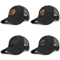 LSU Tigers rotonda Logo nero per gli uomini e le donne protezione del camionista raffreddare il baseball misura i cappelli di maglia principale squadra di basket logo di calcio di cocco