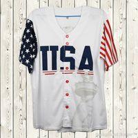 États-Unis Jersey de baseball 45 Donald Trump Edition commémorative Toutes les jersey de baseball cousus bon marché blanc S-3XL expédition rapide