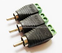 Yüksek Kaliteli Cat5 RCA Erkek TV Video Balun Konnektör Adaptörü CCTV / Ücretsiz Kargo / 10 adet
