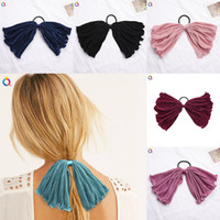 Ins Hair Scrunchy With Big Bow Hair Ring Ponytail Holder Bow...