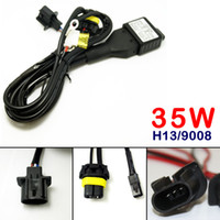 LEEWA Car 12V 35W H13 9008 Hi Lo Beam Bi- xenon Relay Harness...