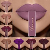 NICEFACE Блеск для губ 30 цветов Nude Matte Жидкая губная помада Mate Водонепроницаемый длительный увлажняющий блеск для губ Косметика для губ