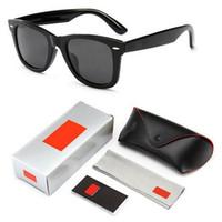 2019 новый мужчина женщина солнцезащитные очки старинные пилот бренд солнцезащитные очки группа поляризованные UV400 запреты Мужчины Женщины Бен солнцезащитные очки с коробкой и футляром
