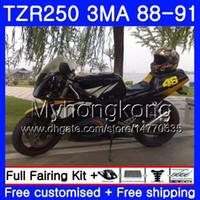 Kit For YAMAHA TZR250RR TZR-250 TZR 250 88 89 90 91 Body 244HM.36 TZR250 Black blue stock RS RR YPVS 3MA TZR250 1988 1989 1990 1991 Fairing