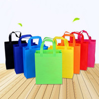 10 pcs DIY Kids Birthday Party favors gift bags with handles Treat Bags Solid Color cloth Shopping Bag Multi-use Gift Tote