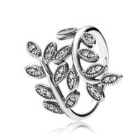 Neue Mode CZ Diamant 925 Sterling Silber Ehering Ring Set Original Box Für Pandora Funkelnde Blätter Ring Frauen Mädchen Geschenk Schmuck
