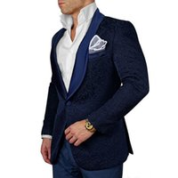 Custom Men' s Suits New Style nary Blue Groomsmen Shawl ...