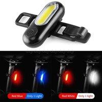 للماء LED دراجات الضوء الخلفي USB قابلة للشحن الأحمر الأبيض الأزرق دراجات مصباح الأنوار للحصول على دراجة الدراجات N23 19 دروبشيب