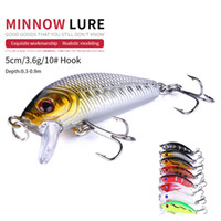 NEWUP 8pcs 5cm 3.6g Quality Minnow Pescaria Fishing Lure 3D Eye Bass Topwater Hard bait crankbait wobblers For fishing tackle